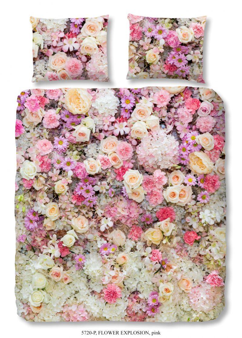 dekbedovertrek met bloemen