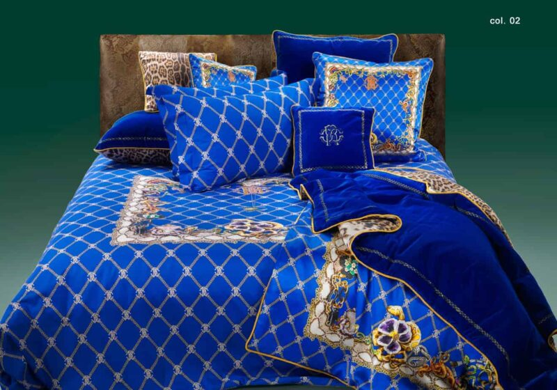 roberto-cavalli-bedding-beddengoed-dekbedovertrek-spider-blauw