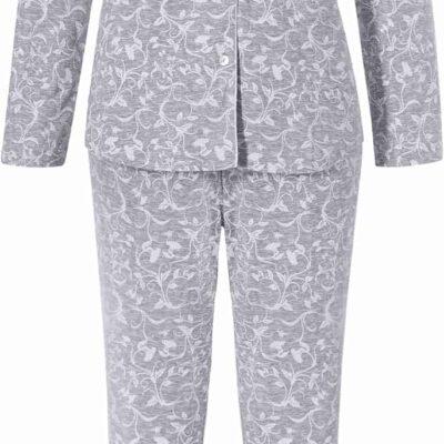 pyjama-orchids-pastunette-grijs-bloemen-wit-grote-maten