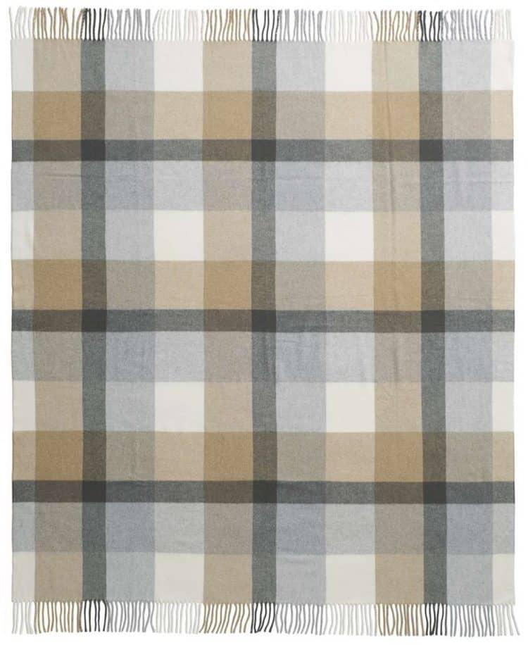 geruite deken in burberry stijl