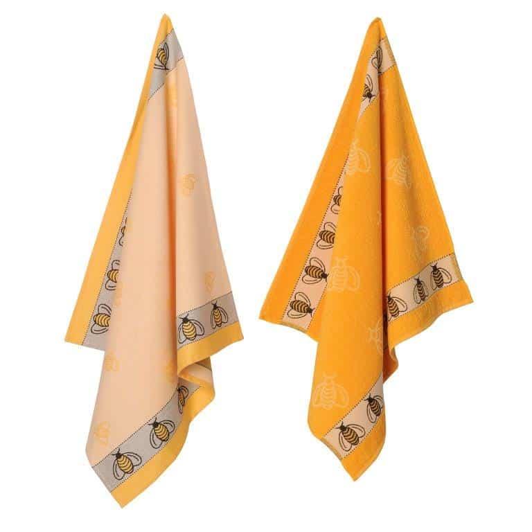 elias-theedoeken-handdoeken-textiel-linnengoed-bij-bee-katoen-geel-okergeel