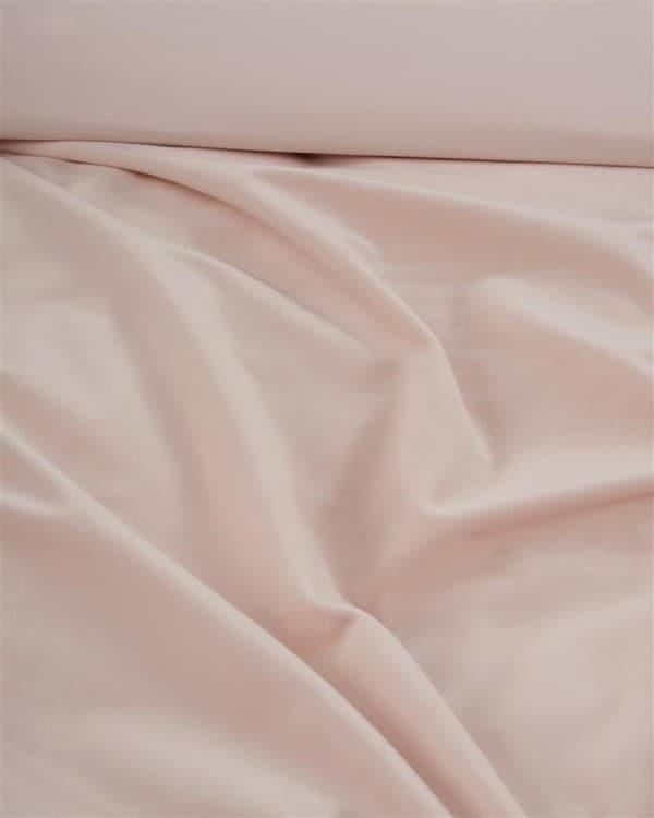velvet stof van een nude dekbedovertrek