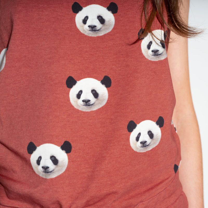 panda beren koppen op pyjama