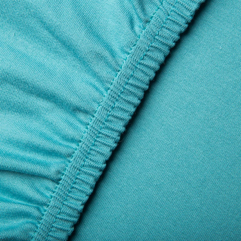 jersey hoeslakens blauw