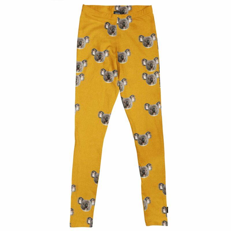 koala beer legging in geel