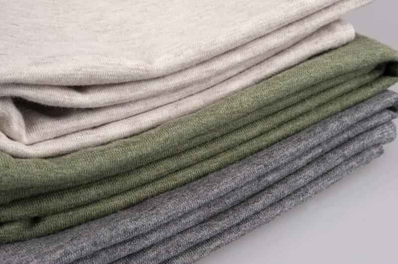 drie kleuren stoffen van jersey dekbedovertrek