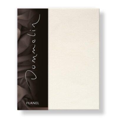 Flanellen lakens in de kleur ecru/ room van het merk Dommelin