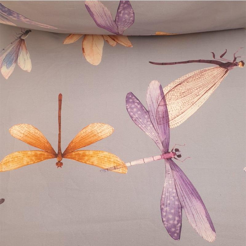libellen met paars en oranje