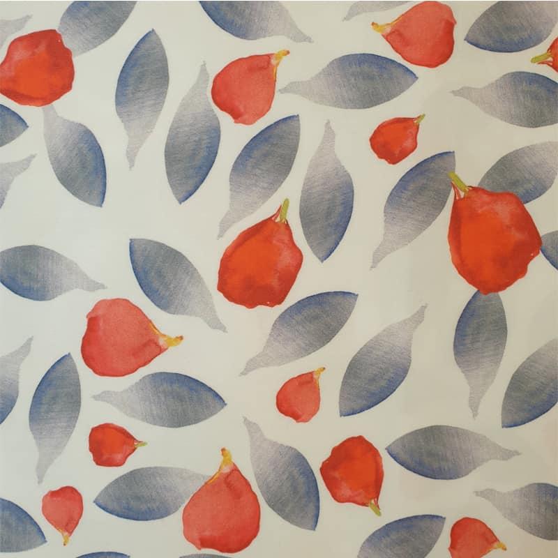 rode en blauwe fijne bloemblaadjes van een bloem dekbedovertrek