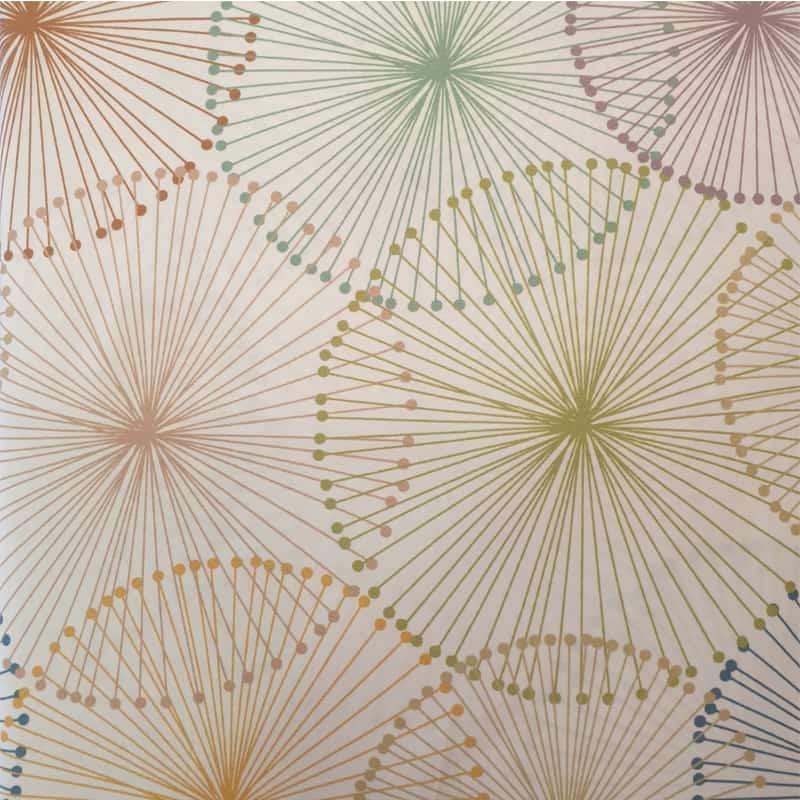 figuren in kleuren op witte stof van een luxe dekbedovertrek
