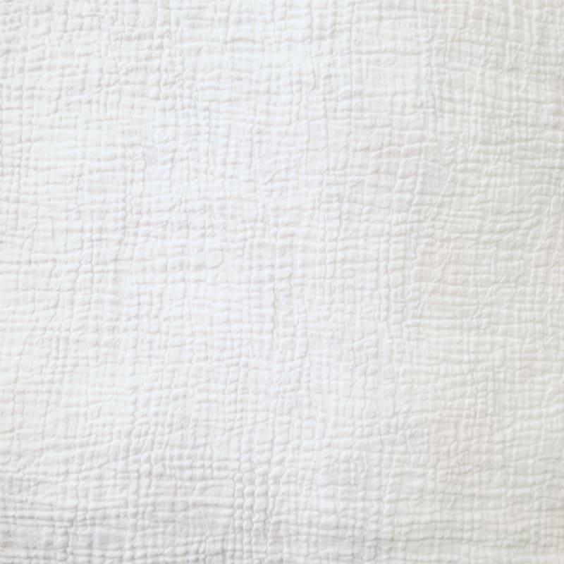 wit stofje van een katoenen dekbedovertrek
