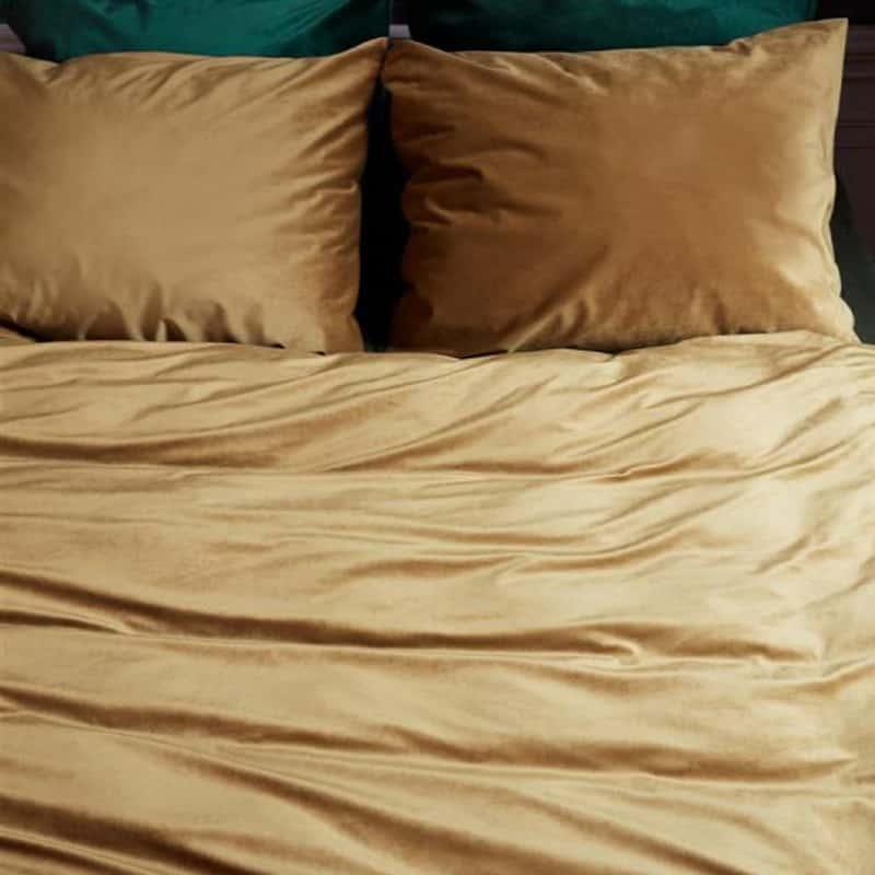 gouden dekbedovertrek van velvet stof
