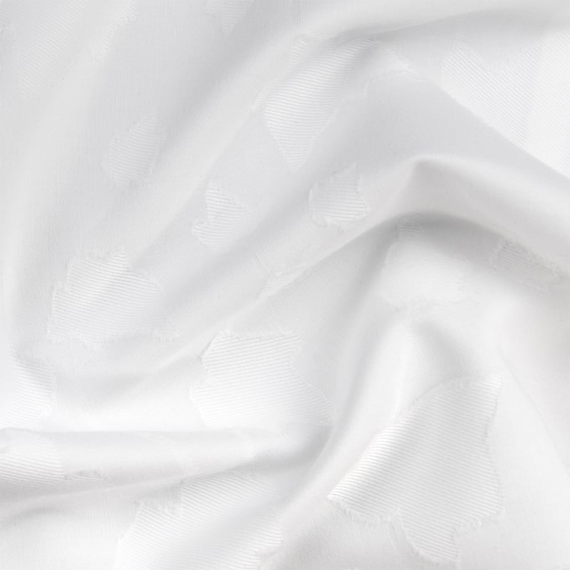 wit katoen satijnen dekbedovertrek