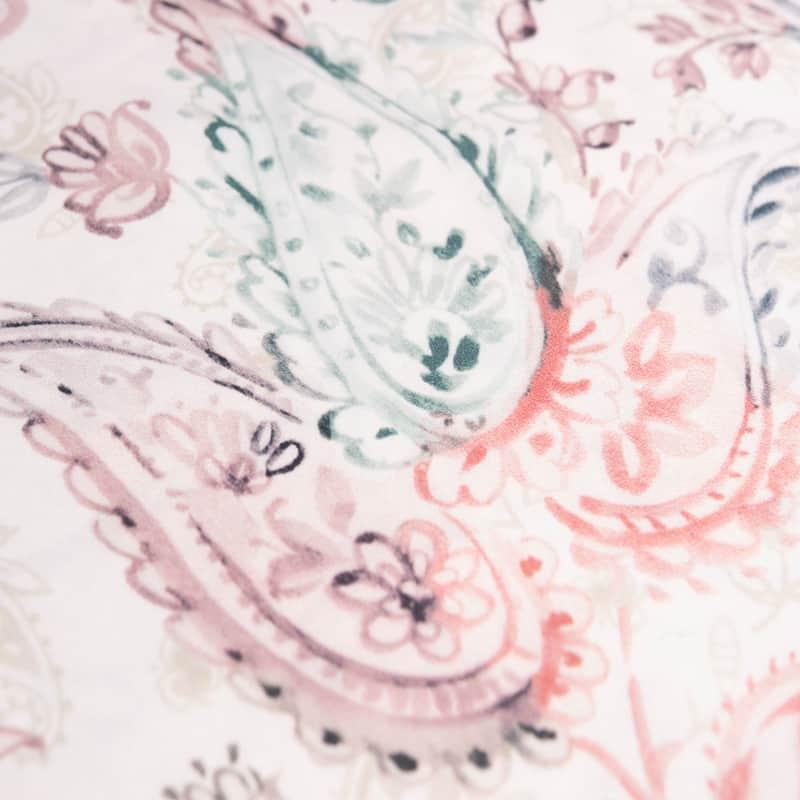paisley motief van een romantisch dekbedovertrek