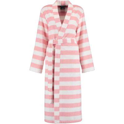 strepen badjas roze wit voor dames van badstof