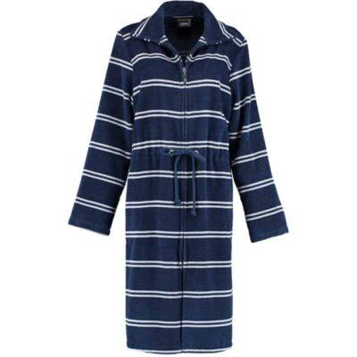 blauwe badjas met rits
