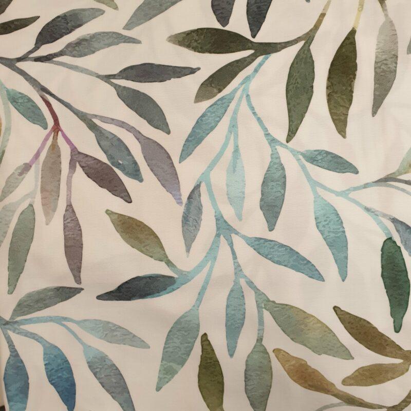 bladeren in blauw, groen tinten