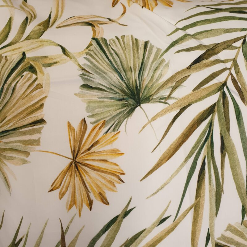 planten op stofje van katoen