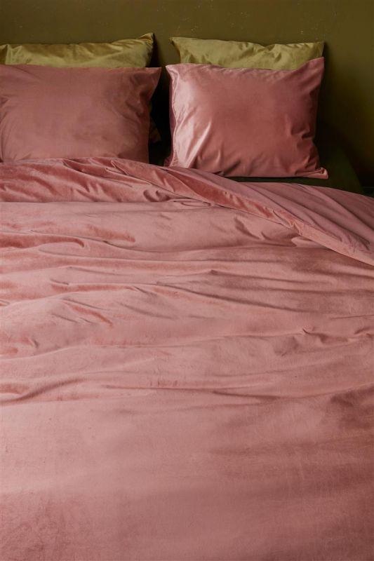 roze fluwelen dekbedset